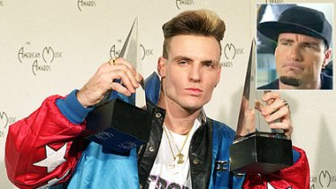 All right stop ... Vanilla Ice has admitted his crimes against music in a YouTube apology (inset).
