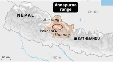 Where the popular hiking trail Annapurna Circuit is located.
