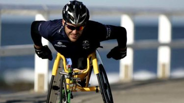 Focused ... following his win in the Chicago Marathon, Kurt Fearnley has turned his attention to November's New York Marathon.