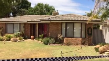 The home in Fountain Way being searched by officers in relation to the Claremont serial killings