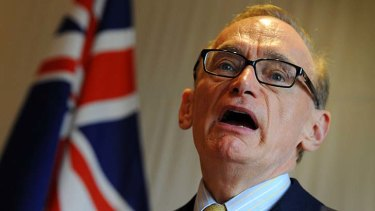 Persuasion tactic: Bob Carr (pictured) will speak with China's Foreign Minister, Yang Jiechi, about tightening its enforcement of UN-backed sanctions against North Korea.
