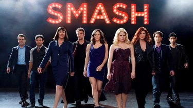 The cast of <i>Smash</i>.