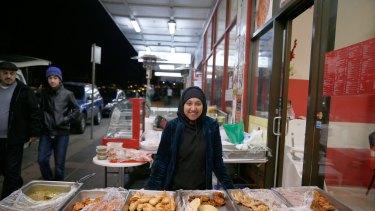 Tani Nowshin sells homemade Bangladeshi snacks.