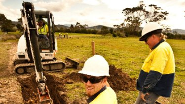 Tasmania National Broadband Network roll out.