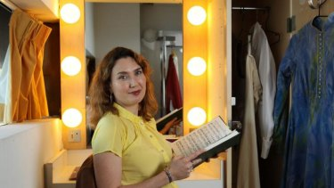 Last-minute success: Jane Ede in a dressing room at the Sydney Opera House.