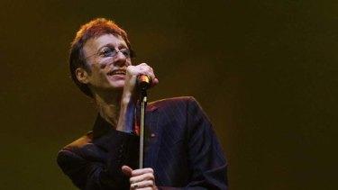 Hit maker ... Robin Gibb on stage in Dubai in 2008.