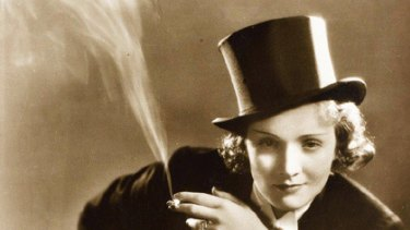 Erotic ... Marlene Dietrich donned a tuxedo for her starring role in the 1930 film Morocco.
