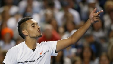 Nick Kyrgios was involved in a confrontation with his opponent in Mexico