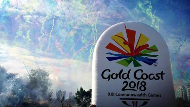The 2018 Commonwealth Games logo is unveiled on the Gold Coast.
