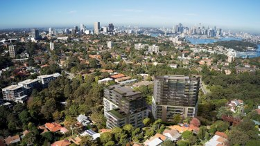 Artist impression of new development at Holdworth Street, St Leonards, where a block was sold for $66 million.