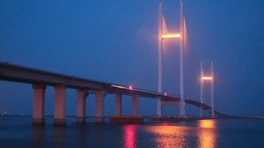 A bridge over the Tumen River linking Dandong, China, and Sinuiju, North Korea, has never been used since it was built in 2015.