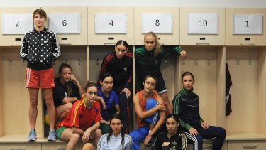The all-female cast of Champions fuse contemporary dance with soccer moves.