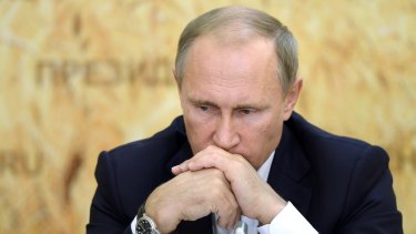 Russian President Vladimir Putin, in Russia on Thursday, has been manoeuvring a bigger role for Russia in Syria.