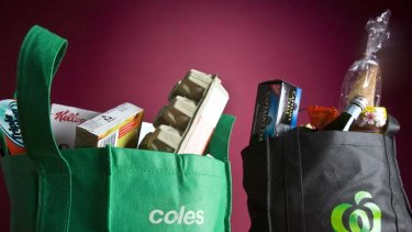 Vice-like grip ... Coles and Woolworths control 80 per cent of our supermarket spend.