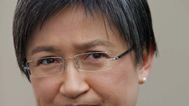 Finance minister and acting Treasurer Senator Penny Wong at Parliament House Canberra on Monday 26 September 2011.