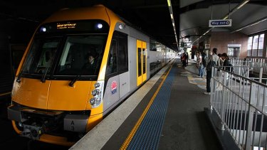 Roomy: A Waratah double-decker train. A single-deck model would fit 25 per cent fewer people.