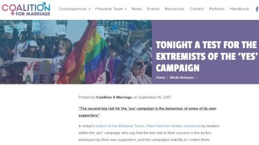 Jill Moran in the Coalition for Marriage press release.