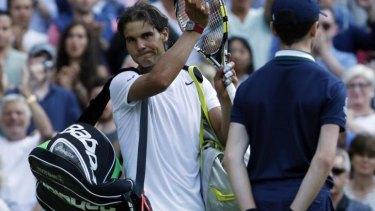 Shock exit: Rafael Nadal.