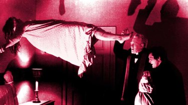 """Unforgettable ... a scene from the classic film """"The Exorcist""""."""