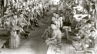 Held: Australian prisoners of war in Changi Jail, Singapore. Those who worked on the Thai-Burma Railway suffered badly.