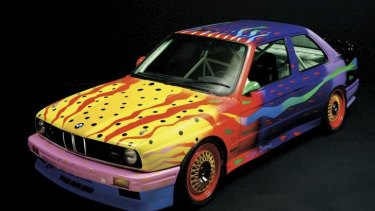 BMW art car painted by Ken Done.