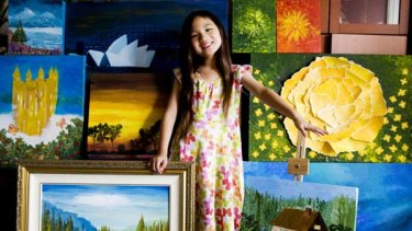 ''I want to buy a puppy'' ... Jesslyn Wijaya, who has an exhibition of 60 works opening this week.