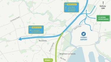 The first section of the F6 extension will link the WestConnex toll road at Arncliffe to President Avenue at Kogarah in Sydney's south.