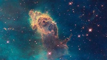 Gas pillars in the Eagle Nebula.