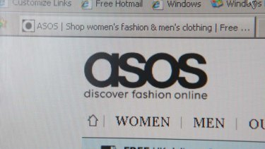 Big hit: the ASOS website.