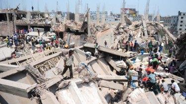 Desperate search: civilian volunteers help in the rescue operation.