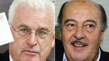 German lobbyist Fedor Radmann (left) and Swiss-Hungarian lobbyist Peter Hargitay.