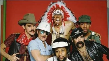 The Village People in their heyday, but another line-up led by original cop, Victor Willis, are the ones coming to Australia in December.