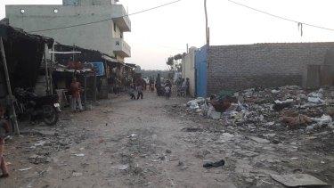 The informal refugee settlement in Madanpur Khadar, New Delhi.