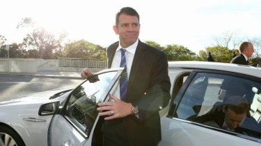 NSW Premier Mike Baird arrives for the for the Council of Australian Governments meeting.