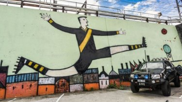Kicker: One of the many trackside murals in Richmond.