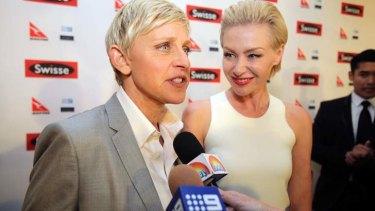 Ellen DeGeneres: praised the bravery of Collins.
