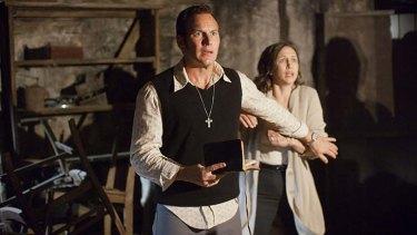 Scary: Patrick Wilson and Vera Farmiga play ''demonologists'' Ed and Lorraine Warren.