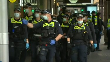 Police have swooped on and arrested protesters on their fifth day of demonstrations in Melbourne.