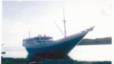 A typical boat used by people smugglers.