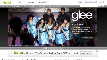 A grab from the Hulu home page.