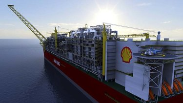 The shape of things to come in gas exploration: An artist's impression of a Shell LNG plant.