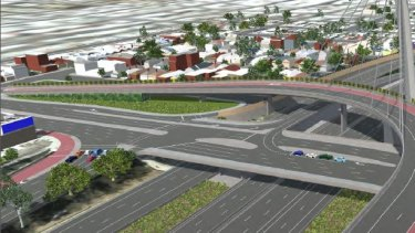 An artist's impression of the East West Link.