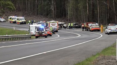 Police closed all lanes of the Princes Highway but had reopened one lane at Bendalong by about 2.30pm.