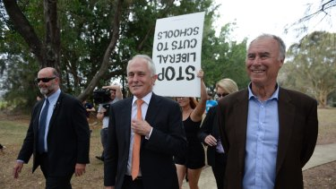 Prime Minister Malcolm Turnbull visited Bennelong Park in Putney with John Alexander on Friday.