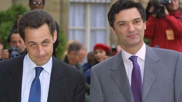 Third wheel ... Patrick Devedjian, right, the former minister in Nicolas Sarkozy's government, who was also in a relationship with Valerie Trierweiler.