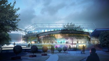 An artist's impression of the renovated Rod Laver Arena.