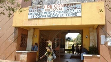The Donka hospital in Conakry, Guinea which is battling to contain an Ebola epidemic.
