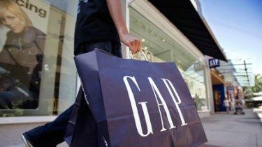 The old faithful ... A Gap shopping bag with the original logo.