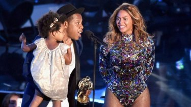 Australia-bound? Jay-Z, Beyonce and daughter Blue Ivy Carter at the recent VMAs.