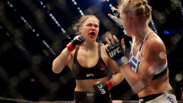 The Ronda Rousey and Holly Holm fight at Etihad Stadium.